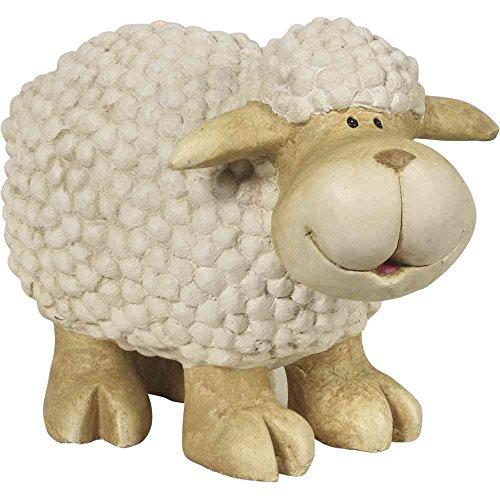 H.G. Figurine de mouton debout, magnésie, 40,5 x 22,5 x 31 cm, blanc