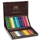Caran d ́Ache 3888.480 Artist Coffret en bois 80 couleurs Supracolor Soft