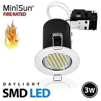 MiniSun BLANC FROID LUMIERE DU JOUR SMD LED de plafond encastrable GU10 Blanc