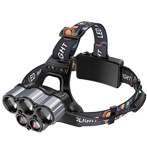 ADMIN Wiederaufladbare LED-Kopfscheinwerfer - Wasserdichte, Extrem Helle USB-Scheinwerfer Mit Extrem Hoher Reichweite - Outdoor-Mehrzweck-Camping-Nachtangeln (Farbe : B)
