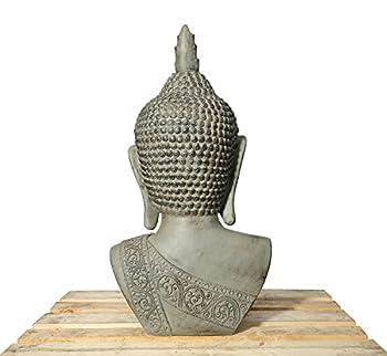Xxl Buddha Kopf 113cm Skulptur Steinoptik Frostfest Indoor-outdoor Buddha 406150 3