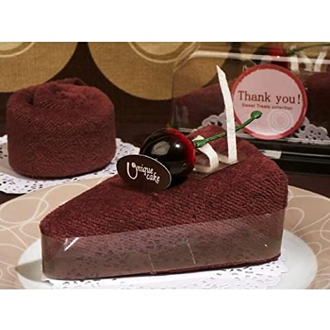 6 X Sweet Treats cioccolato Cheesecake asciugamani Wedding favori Gifts - Brown (2 pezzi)