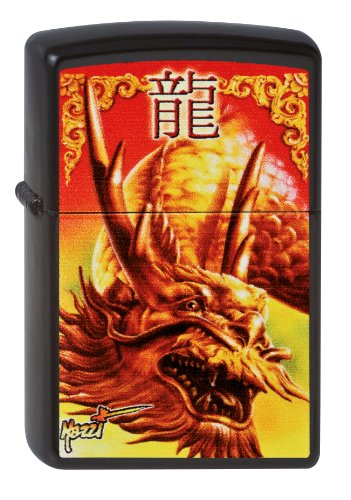 Zippo 2002762 218 Mazzi Golden Dragon - Mechero, diseño de dragón