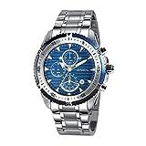 Breil Cronografo TW1429 47 mm, in acciaio INOX, con quadrante per orologio al quarzo, colore: blu