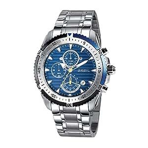 Breil TW1429 - Orologio in acciaio inox al quarzo con quadrante blu e cronografo, 47 mm