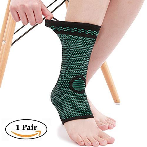 Beister 1 Paar Knöchelbandage Kompressionsbandage für Damen und Herren, elastische Verstauchung, Plantarfasziitis Fußsocken für Verletzungen, Gelenkschmerzen, Achillessehne, Fersensporn -