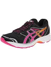 Zapatilla para correr para mujer con gel-ecuaci¨®n 8, color negro / rosa fuerte / naranja, 6 M EE. UU.