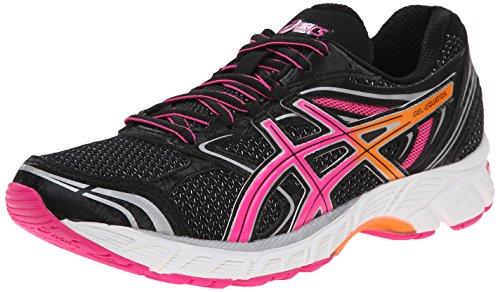 Asics Womens Gel-Equation 8 Running Shoe Black/Hot Pink/Orange