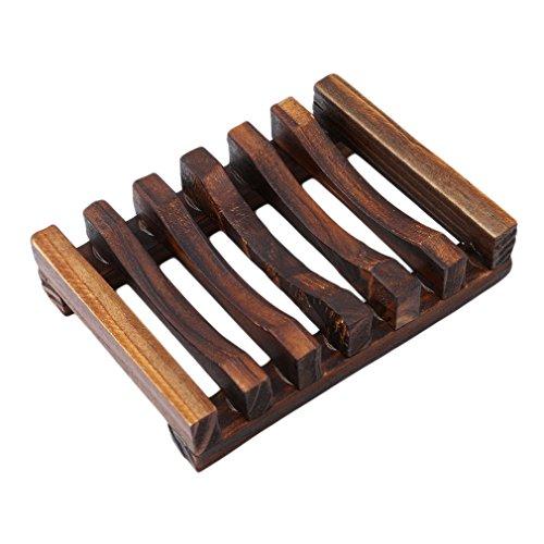 Yesiidor Seifenschale Holz Dusche Holz Seife Fall Bambus Seifen Form Halter