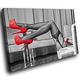 Scarica Libro EE155P incorniciata stampa su tela Colourful Wall Art Red Erotic lingerie Legs pezzo di people soggiorno camera da letto moderno Home Decor interior design Dimensioni facile da appendere guide here Tela XXL 150CM X 100CM (PDF,EPUB,MOBI) Online Italiano Gratis