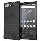 Caseflex Cover Blackberry KEY2, Custodia in Silicone in Fibra di Carbonio Testurizzata| Assorbi-Urti Case | Protezione Leggera e Sottile in Gel TPU - Nero - CS000006BB