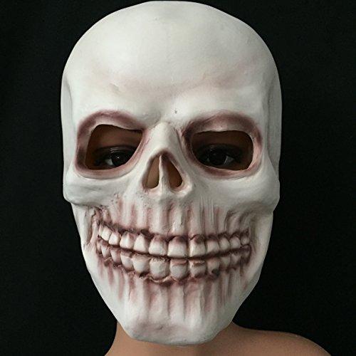 olayer Halloween Latex Totenkopf Maske Neuheit Cosplay Kostüm Party Horror (Kostüme Halloween Humorvoll)