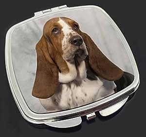 Basset Hound Dog Make-up Taschenspiegel Weihnachtsgeschenk