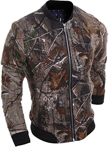 Jeansian L'automne et l'hiver Hommes Manteaux et Blousons Men's Casual Zipper Baseball Sport Jacket Coat Tops 9548 Multicolore