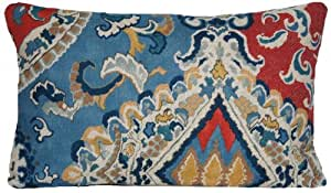 Blue And Red Oriental Cushion Cover Moroccan Fez Design Pillow Throw Case Osborne and Little Fabric Berber by Osborne and Little