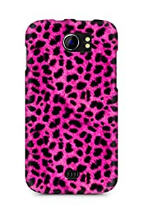 Amez designer printed 3d premium high quality back case cover for Micromax Canvas 2 A110 (pink leopard )
