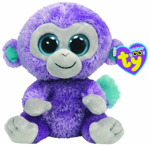 Beanie Boo Monkey - Blueberry - 15cm 6""