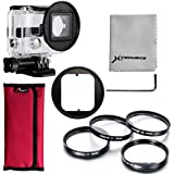 XCSOURCE® 4pcs 52mm Close Up Macro +1+2+4+10 Filter Enlargement Magnify Filter Lens + Adapter +Filter Bag For GoPro 3+ Case LF442
