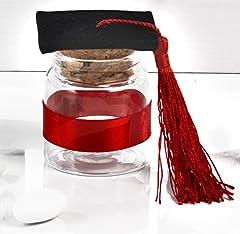 Idea Regalo - 12 barattolini in vetro portaconfetti Bomboniera Laurea cm.6 by Mandorle bomboniere