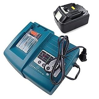 Ersatzakku Makita 18V Lithium-Ion 3,0Ah für BL1830 + Makita Ladegerät DC18RC DC18RA 14,4V -18V 1.5A