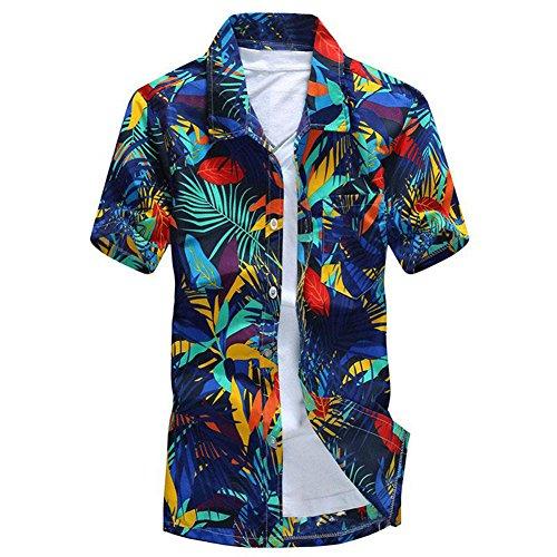 Vin beauty wlgreatsp Herren Drucken Kurzarm Strand Hemd (Button-down-nicht-eisen-pinpoint)