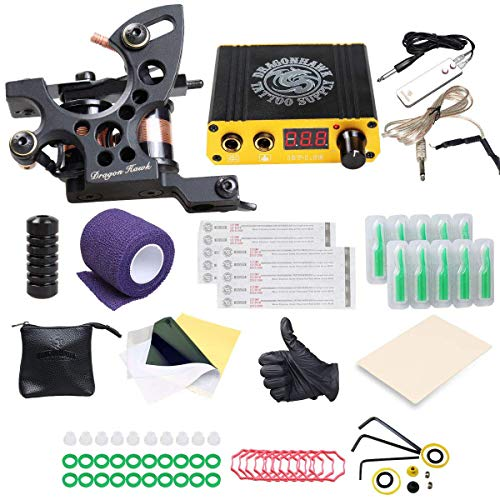 DragonHawk Beginner Tattoo Kit 1 Pro Tattoo Machine