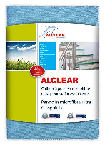 ALCLEAR 820051UM Panno in Microfibra Ultra Glass Polish, Blu, 70 x 50 cm
