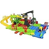 Toyhouse Block Train Play Set, Multi Color (56 Pieces)