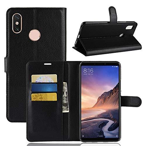 Vicstar Xiaomi Mi Max 3 Hülle, Xiaomi Mi Max 3 Tasche Premium PU Leder Flip Case Ledertasche Dünn Schutzhülle mit Kartensteck Plätzen und Faltbare Ständer Handyhülle für Xiaomi Mi Max 3
