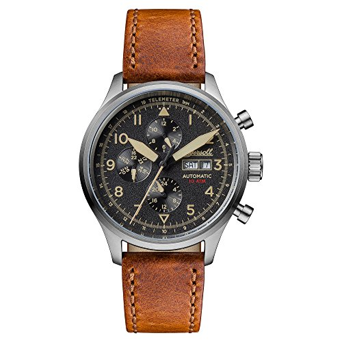 Ingersoll Men's The Bateman Quartz Watch withSchwarz Dial andBraun Leather Strap I01902