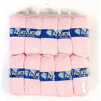 Distrifil - 10 pelotes de laine à tricoter Distrifil AZURITE 3011 pas cher 100% acrylique - 3011