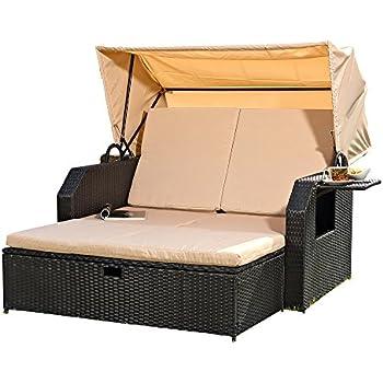 Amazon.de: Melko Sonnenbett/Strandkorb/Lounge aus