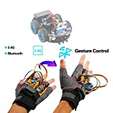 Emakefun Gesture-Motion Starter Kit for Arduino Nano V3.0 Support Robot Smart Car with MPU6050 6 Axis Accelerometer Gyroscope Module,NRF24L01+ Wireless Module