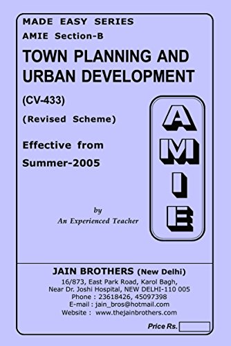 AMIE Town Planning and Rural Development CV-433 Solved Paper