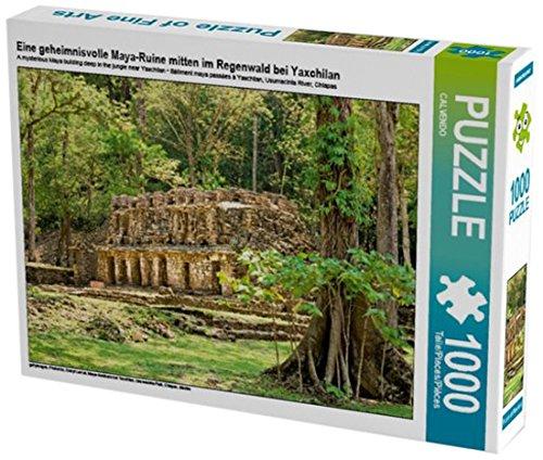Preisvergleich Produktbild Eine geheimnisvolle Maya-Ruine mitten im Regenwald bei Yaxchilan 1000 Teile Puzzle quer: Maya-Gebäude bei Yaxchilan, Usumacinta Fluß, Chiapas, Mexiko (CALVENDO Orte)