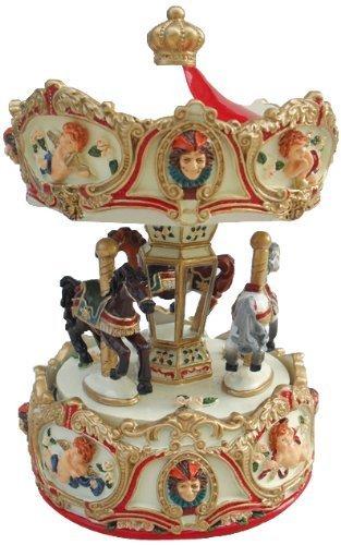 Carillon di Natale Merry Go Round Plays-Minuet (Go Round Box Musica)