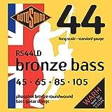 Rotosound Bronze Bass Jeu de cordes pour basse Bronze phosphoreux Filet rond Tirant standard (45 65 85 105) (Import Royaume Uni)
