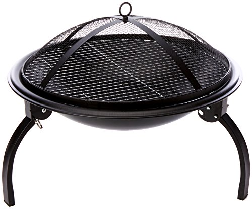 Portable Camping Firebowl with Grill