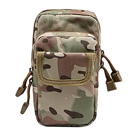 FlightBird Tactical Military Molle Waist Pouch Bag Sac ¨¤ dos Militaire imperm¨¦able Utility Pack Camp Hiking Outdoor Sports Waist Pack Phone Pocket
