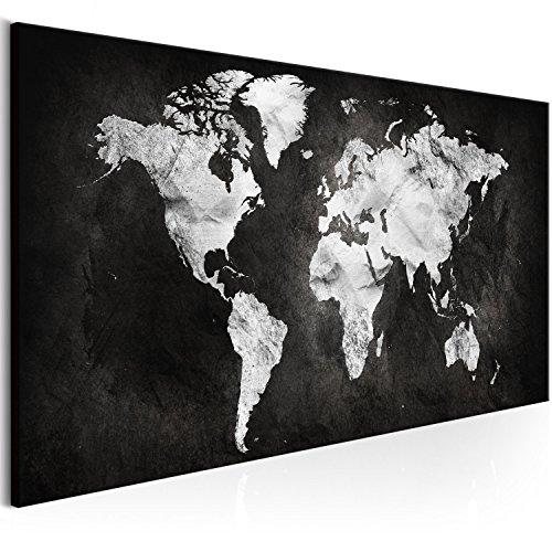 murando - Cuadro Mapamundi 135x45 cm - 1 Parte - impresión en Material Tejido no Tejido - impresión artística - Imagen gráfica - decoración de Pared - Mapa Mundo - k-A-0297-b-a