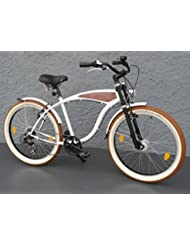 '26showbike Cruiser bicicleta 7velocidades Shimano dinamo de buje Schwalbe Madera