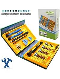 ACENIX® Nueva 38en 1destornillador Set herramientas de reparación Kit para iPhone 6,5,5S, 4Samsung para portátil PC