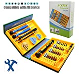 ACENIX New Professional Outils Set pour iPhone 5S 5 C 5 4S 4 iPad Air iPad 4 3 2 Mini iPod Samsung Galaxy S4 S3 S2 Note 1 Note 2 Note 3 Mega HTC One X Sensation XL Evo Radar Nokia Lumia 920 800 N8 N9 LG Nexus 4 Optimus 4 X 2 X 3D Sony Xperia Z ZL SL U P Motorola DROID RAZR Blackberry Z10 Torch 9860 GPS Kindle Fire 'Coffret compact de serrage multiusage tournevis de précision réparation outils Kit