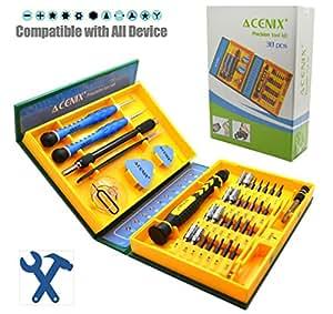 ACENIX® Kit outil réparation tournevis premium 38 en 1 iphone/ordinateur portable/macbook/wii/psp