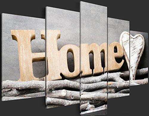 murando - Acrylglasbild House 200x100 cm - 5 Teilig - Glasbilder - Wandbilder XXL - Wandbild - Bilder Home m-B-0031-k-m - 5