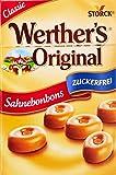 Werther's Original Sahnebonbon Minis zuckerfrei – Mini Bonbons ohne Zucker mit lang anhaltendem Genuss für besondere Momente – 10 x 42g Beutel