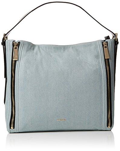 Diesel Damen Group Helsinky Hobo Schultertasche, Blau (Azure), 14x19x28 cm (Diesel Handtaschen Damen)