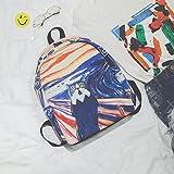 BAGEHUA Abstrakt Leinwand Graffiti Rucksack Reisetasche Street Beat Schule Wind Schultasche 14 Zoll Computer Rucksack (Höhe 40 cm Breite 28 5 cm Dicke 11 Cm) Muster 4 (Van Gogh Cat)