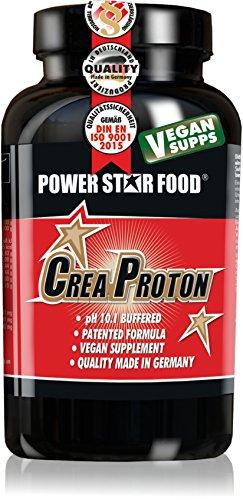 CREAPROTON - Stärkster Kraftbooster - Premium Kre-Alkalyn (CreaTrona®) - Hochwertigstes CREAPURE - Für mehr Maximalkraft, Ausdauer und Muskelwachstum - 210 Kapseln - MADE IN GERMANY