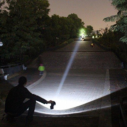 HOMEE @ Led-licht Taschenlampe Wiederaufladbare Suchscheinwerfer im Freien Langstrecken-notfall Portable Licht,Schwarz